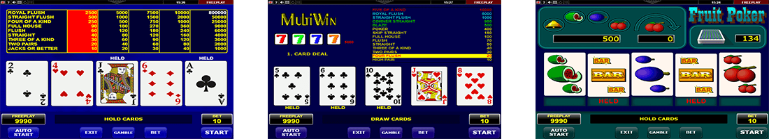"Among the best Amatic video poker games are ""Jacks or Better"", ""MultiWin"" and ""Fruit Poker"""