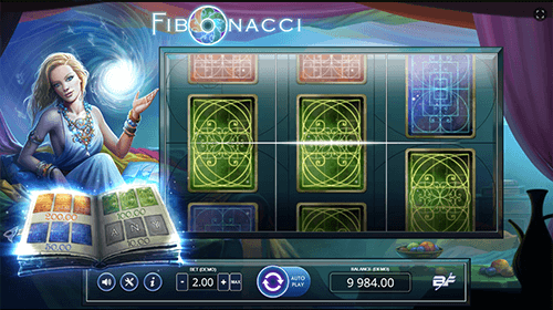 """Fibonacci"" is a slot game by BF Games with a 3x3 reel layout"