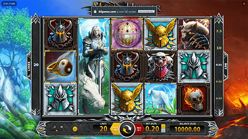 "The ""Magic Hunter"" slot by BF Games has a 5x3 reel layout and 20 fixed paylines"