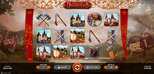 """Deluxe Dominators"" slot by BGaming has 9 pay lines and a 3x5 reel layout"