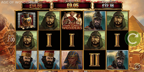 "The Blueprint Gaming slot ""Age of Wonders"" offers a Jackpot King Progressive Pot System"