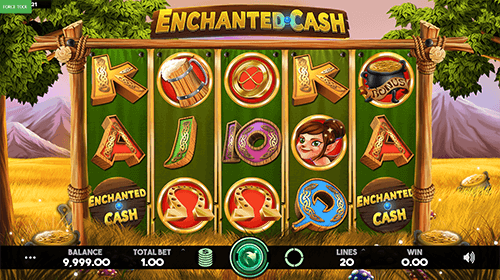 """Enchanted Cash"" is a Caleta Gaming 5x3 slot with 20 fixed paylines"