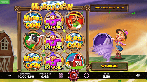 """HurriCash"" is a 9x1 slot by Caleta Gaming with an RTP rate of 96.40%"