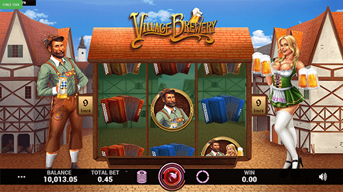 "The ""Village Brewery"" by Caleta Gaming features a 3x3 reel layout"