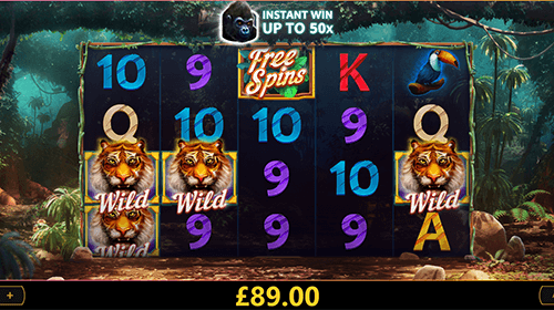 """Dark Jungle"" is a jungle-themed slot by Cayetano Gaming with 40 fixed pay lines"