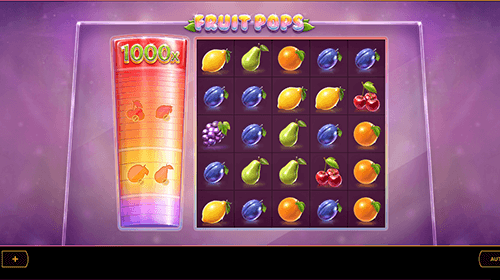 """Fruit Pops"" by Cayetano Gaming is a 5x5 slot"