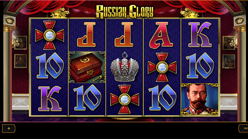 "Cayetano Gaming's slot ""Russian Glory"" has a 5x3 reel layout and 10 fixed paylines"