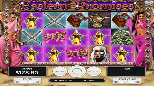 "The ""Eastern Promises"" slot by Concept Gaming has a 3x5 reel layout"