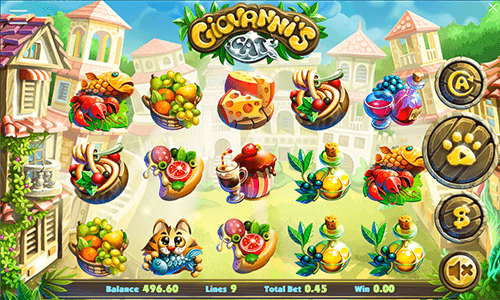 The Giovanni's Cat slot by Connective Games has a classic 5x3 reel layout