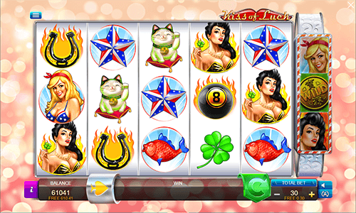Kiss of Luck is a 5x3 slot by Connective Games with many bonus features