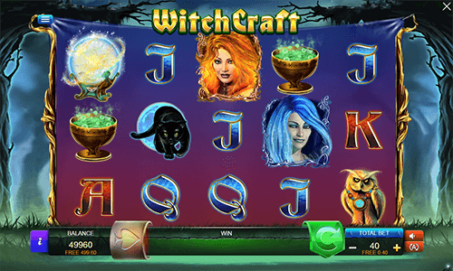 WitchCraft is a slot game by Connective Games with 40 adjustable pay lines