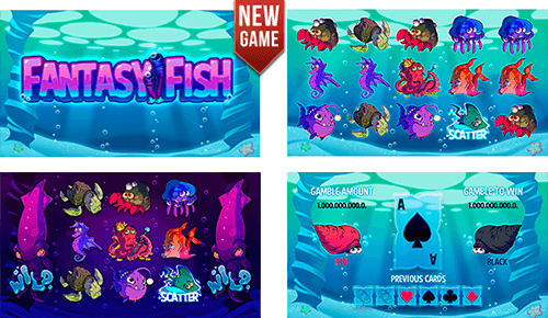 """Fantasy Fish"" is a DLV slot game with 20 pay lines"