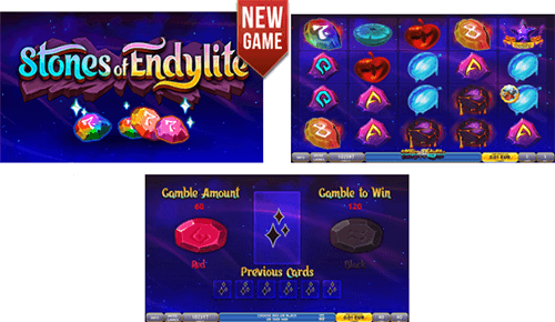 """Stones of Endylite"" slot by DLV offers 40 pay lines"