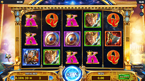 "The DreamTech slot ""Wrath of Thor"" features 25 pay lines"
