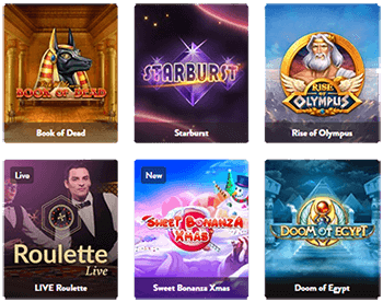 Huge selection of approximately 2,000 games at Dunder Casino