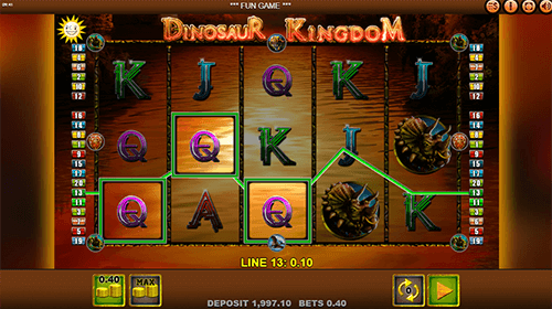 "The Edict slot ""Dinosaur Kingdom"" has a 3x5 reel layout and 20 paylines"