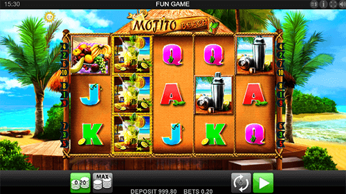"The Edict slot ""Mojito Beach"" has a a 3x5 layout and 10 pay lines"