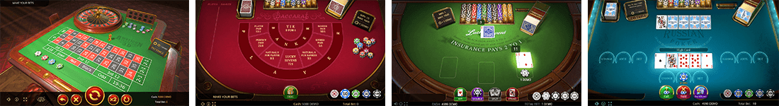 Evoplay has approximately eight table games