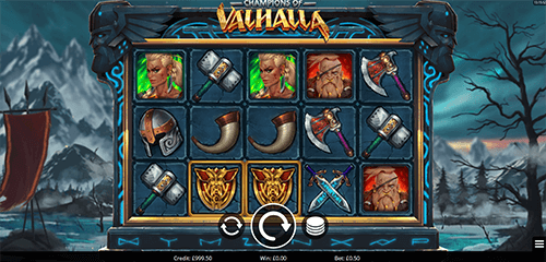 """Champions of Valhalla"" is a slot by Eyecon with 25 pay lines"