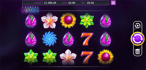 "The ""Crystal Lotus"" slot by Eyecon has 10 pay lines which pay both ways"