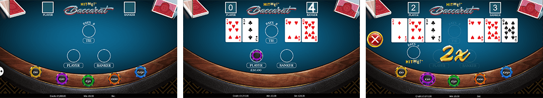 "Eyecon has only one table game - ""Hit Me! Baccarat"""