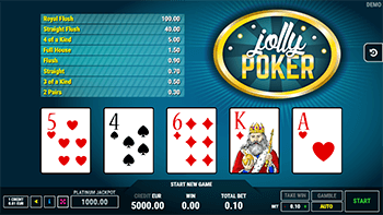 """Jolly Poker"" is the only video poker title produced by FAZI"