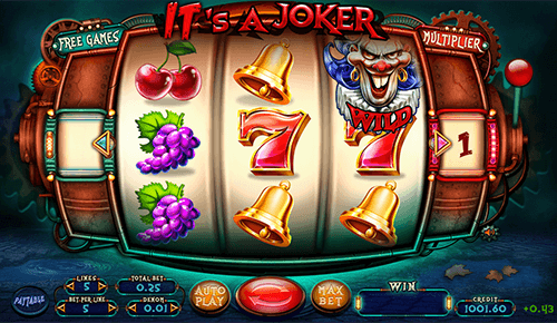 "The Felix Gaming slot ""IT's a Joker"" has 3x3 reel layout and 5 paylines"