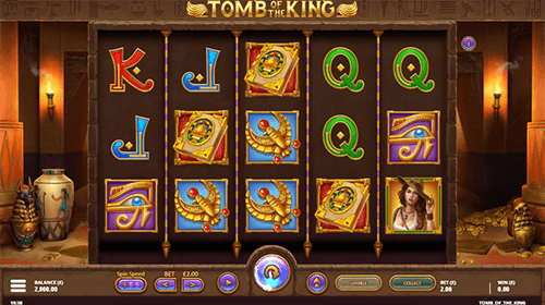"The ""Tomb of the King"" Gamevy slot has many bonus features"