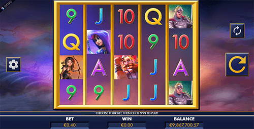"""Dragon Slayers"" is a 5x4 fantasy-themed slot by Genesis Gaming"