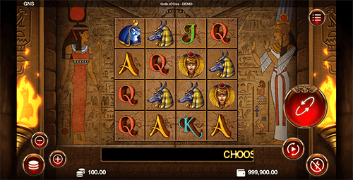 """Gods of Giza"" is a 4x4 square slot by Genesis Gaming with an RTP rate of 95%"
