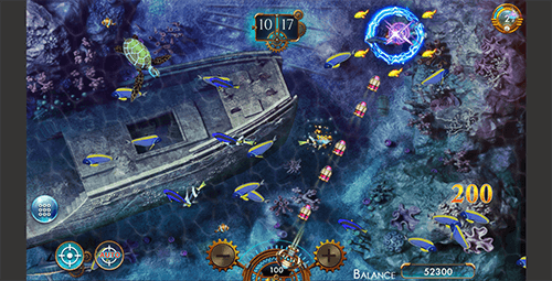 """Sea Raider"" is a game of the ""fishing"" genre by Genesis Gaming"