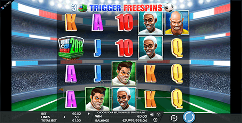 "Genesis Gaming's ""World Cup Football"" slot has a 5x4 reel layout and 50 adjustable pay lines"