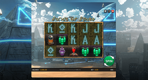 """Sands of Space"" is a Genii slot with 20 fixed paylines"