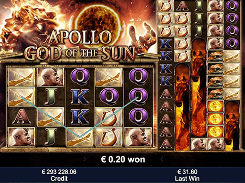 "The Greentube slot ""Apollo God of the Sun"" has 2 types of layouts - 5x5 and 12x5"