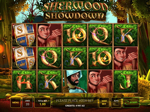"The ""Sherwood Showdown"" slot from Greentube has 20 paylines"
