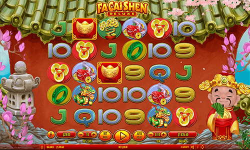 """Fa Cai Shen Deluxe"" Habanero slot has 28 pay lines and many bonus symbols"