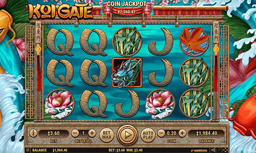 """Koi Gate"" Habanero slot has 18 pay lines and a progressive jackpot"