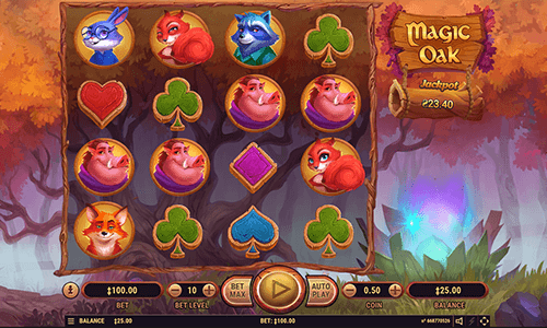 """Magic Oak"" is a fantasy-type Habanero slot with 4x4 layout and 20 pay lines"