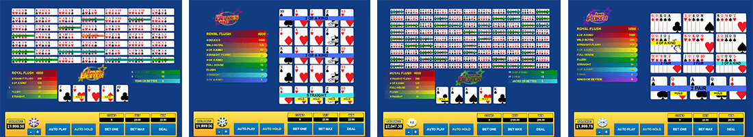 The Habanero video poker titles are simple but their playability is great