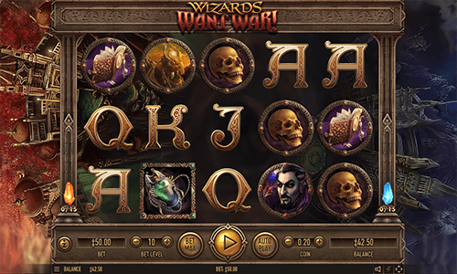 """Wizards Want War!"" is a fantasy-themed 3x5 reel layout Habanero slot"