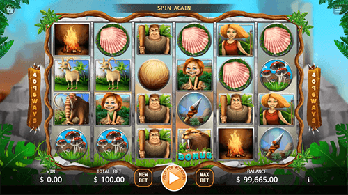 "The ""Neanderthal"" slot by KA Gaming has a 4x6 reel layout and 4,096 winning ways"
