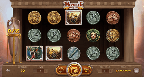 "3x5 reel layout, 20 paylines and a lot of features at Leap Gaming Slot ""Hercules, Do or Die"""