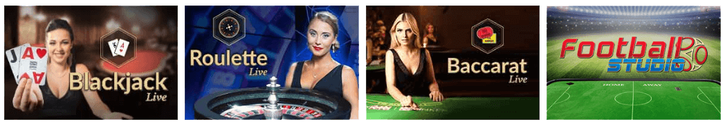 Exclusive selection of more than 70 titles at Mr Play live casino