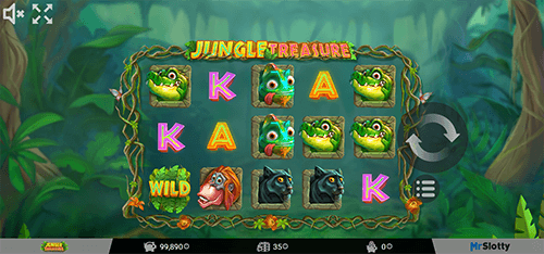 "The ""Jungle Treasure"" slot from MrSlotty can give out up to 20 free spins"
