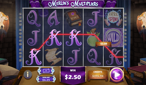 """Merlin's Multipliers"" is a 3x5 ""wizard-themed"" slot by Multislot"