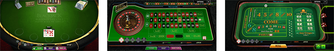 Multislot has nine table games