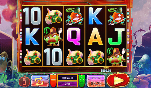 "The ""Vegetable Wars"" slot by Multislot has 3x5 reel layout and 25 fixed paylines"