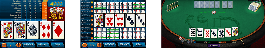 The video poker titles by Multislot have an amazing quality