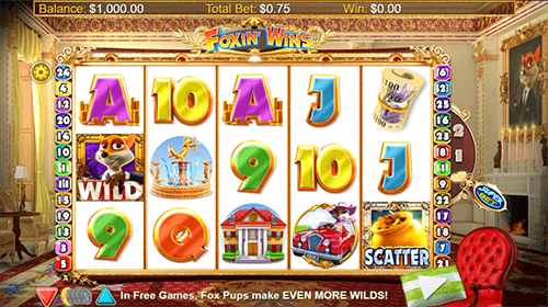 """Foxin' Wins HQ"" is a NextGen slot game wich provides players with 25 pay lines"