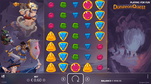 """Dungeon Quest"" is a slot from Nolimit City with 7x5 reel layout"